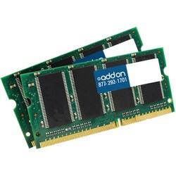 AddOn JEDEC Standard 4GB (2x2GB) DDR3-1333MHz Unbuffered Dual Rank 1.