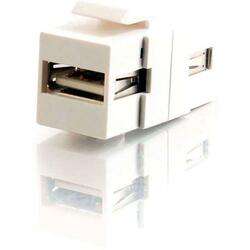C2G Snap-In USB A/A Female Keystone Insert Module - White