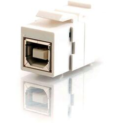 C2G Snap-In USB B/B Female Keystone Insert Module - White