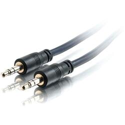 C2G 15ft Plenum-Rated 3.5mm Stereo Audio Cable with Low Profile Conne