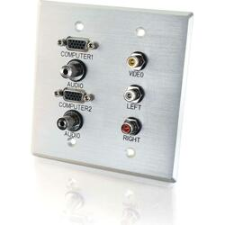 C2G 7 Sockets Audio/Video Faceplate
