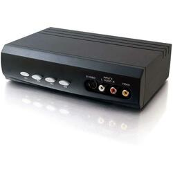 C2G 4x2 S-Video + Composite Video + Stereo Audio Selector Switch