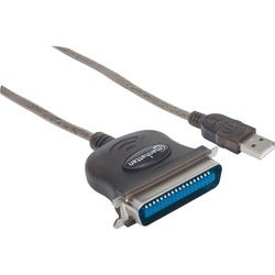 Manhattan 317474 USB to Parallel Printer Converter Cable Adapter