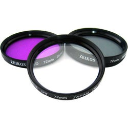 Zeikos Electronics ZE-FLK72 Filter Kit - Polarizer, FLD, Ultraviolet