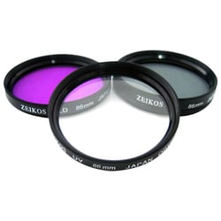 Zeikos Electronics ZE-FLK86 Filter Kit - Ultraviolet, Polarizer, FLD