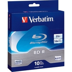 Verbatim BD-R 25GB 6X with Branded Surface - 10pk Spindle Box - TAA C