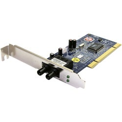 StarTech.com 100Mbps PCI Multi Mode ST Fiber Ethernet NIC Network Ada