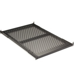 "Black Box Fixed Vented Server Shelf, 27 1/4""D, for 19"" Rails"