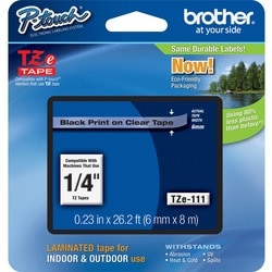 Brother TZ Black on Clear Label Tape Cartridge