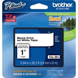 Brother TZ Series One-Inch Lettering Tape