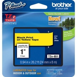 "Brother P-touch TZe 1"" Laminated Tape Cartridge"