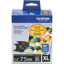 Brother LC75BK Ink Cartridge - Black - Thumbnail 0