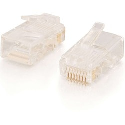 C2G RJ45 Cat5 8 x 8 Modular Plug for Round Stranded Cable - 100pk