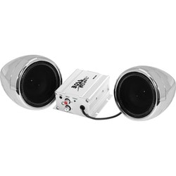 BOSS AUDIO MC400 Chrome 600 watt Motorcycle/ATV Sound System with One