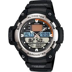 Casio Men's 'Sport Gear' Analog-Digital Black Rubber Watch