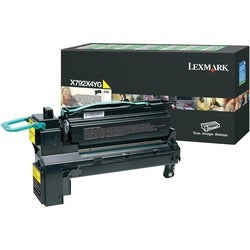 Lexmark X792X4YG Toner Cartridge - Yellow