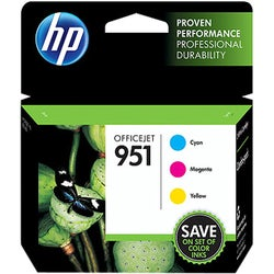 HP 951 C/M/Y Original Ink Cartridges, CR314FN, Combo Pack