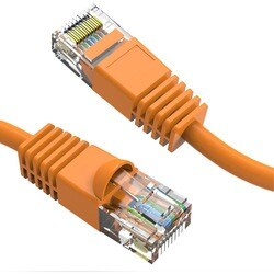 Axiom 5FT CAT6 550mhz Patch Cable Molded Boot (Orange)