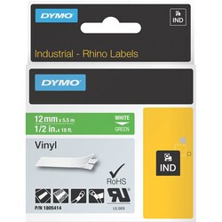 Dymo White 0n Green Color Coded Label