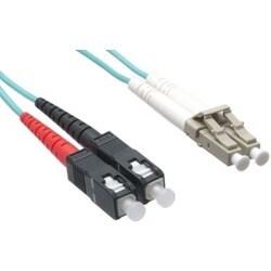 Axiom LC/SC 10G Multimode Duplex OM3 50/125 Fiber Optic Cable 3m