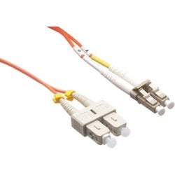 Axiom LC/SC Multimode Duplex OM2 50/125 Fiber Optic Cable 2m