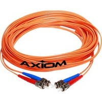 Axiom ST/ST Multimode Duplex OM1 62.5/125 Fiber Optic Cable 3m