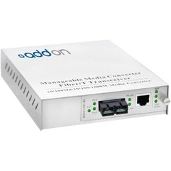 AddOn 10/100/1000Base-TX(RJ-45) to 1000Base-LX(SC) SMF 1310nm 20km Ma