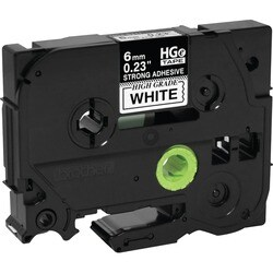 Brother HGES2115PK Black on White Extra-Strength Adhesive Label Tape