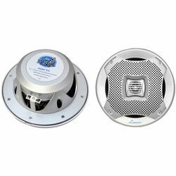"Lanzar 400W 6.5"" Silver 2-Way Marine Speakers"
