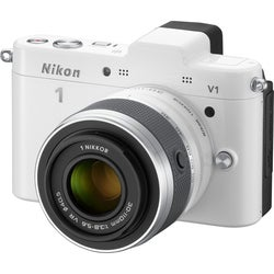 Nikon 1 V1 10.1MP Mirrorless White Digital SLR Camera with 10-30mm Lens