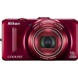 Nikon Coolpix S9300 16MP Red Digital Camera