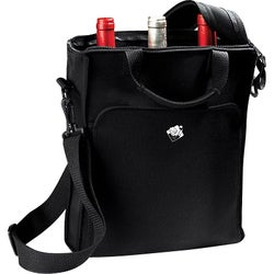 Wine Enthusiast Carrying Case (Tote) for Bottle - Black