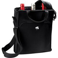 Wine Enthusiast Carrying Case (Tote) Bottle - Black