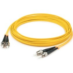 AddOn 3m Single-Mode fiber (SMF) Duplex ST/ST OS1 Yellow Patch Cable