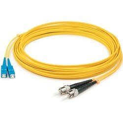 AddOn 10m Single-Mode fiber (SMF) Duplex ST/SC OS1 Yellow Patch Cable