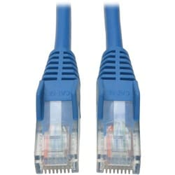 Tripp Lite 1ft Cat5e / Cat5 Snagless Molded Patch Cable RJ45 M/M Blue