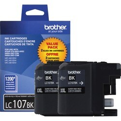 Brother Innobella LC1072PKS Black Replacement Ink Cartridge (Pack of 2)