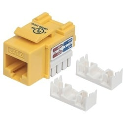 Intellinet Cat6 UTP Punch-down Keystone Jack, Yellow