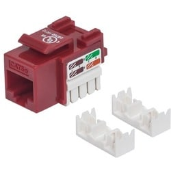 Intellinet Cat5e UTP Punch-down Keystone Jack, Red