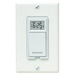 Honeywell RPLS730B1000/U 7-Day Programmable Light Switch Timer (White