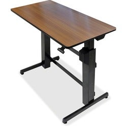 Ergotron WorkFit-D, Sit-Stand Desk (Cherry Surface)