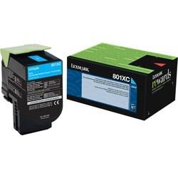Lexmark Unison 801XC Toner Cartridge - Cyan