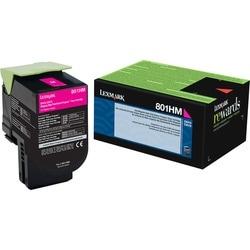 Lexmark Unison 801HM Toner Cartridge - Magenta