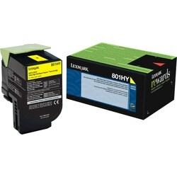 Lexmark Unison 801HY Toner Cartridge - Yellow