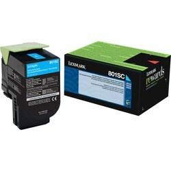 Lexmark Unison 801SC Toner Cartridge - Cyan