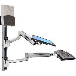 Ergotron Wall Mount Track for CPU, Flat Panel Display, Keyboard, Mous