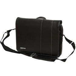 Mobile Edge - Slimline Laptop/Tablet 14.1 Ultrabook or 15 MacBook Messenger Bag - Black w/White