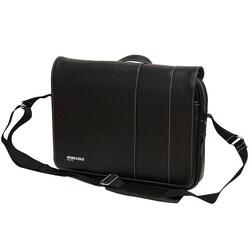 Mobile Edge - Slimline Laptop/Tablet 14.1 Ultrabook or 15 MacBook Messenger Bag - Black w/White