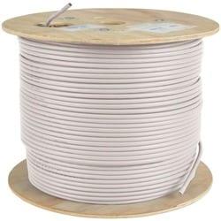Tripp Lite 1000ft PVC CMR CAT5E CAT5 SOLID UTP BULK CABLE WHITE 1000'