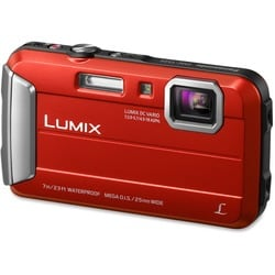 Panasonic Lumix DMC-TS25 Waterproof 16.1MP Red Digital Camera